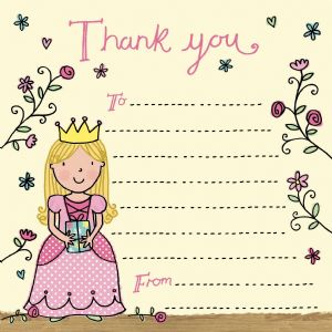 Princess Thank You Note